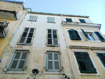 Old building. In the old town of Corfu island Greece Royalty Free Stock Images