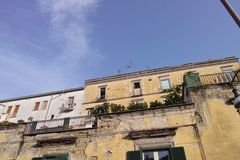 old building in the town of naples stock photography