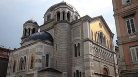 Old building in Trieste stock video
