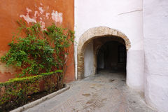 Old Building tunnel Royalty Free Stock Photos