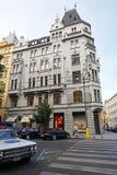 Old building U Dvou Malorusek in the center of Prague 28 june 2014 Royalty Free Stock Image