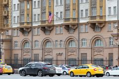 Old building of the U.S. Embassy in the Russian Federation. Moscow. 25.04.2016. Old building of the U.S. Embassy in the Russian Federation. Moscow stock images