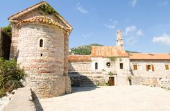 Old building under blue sky. Photo of an old building under blue sky Royalty Free Stock Photo