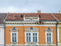 Old building on Union Square in Timisoara, Romania. Close Royalty Free Stock Image