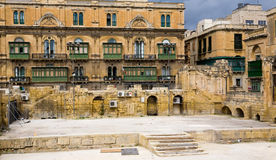 Old Building in Valletta Malta Stock Photography