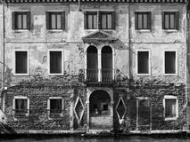 Old building in Venice on canal Stock Images