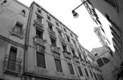 An old building in Venice Italy 2019. An old building in Venice Italy 2019 Black and White Photo stock photos