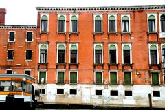 Old building in Venice, in a rainy day Royalty Free Stock Image