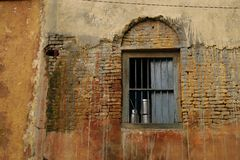 Old building in a village in India stock photos