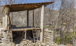 Old building in the village of Lahij Azerbaijan. Nature Stock Image