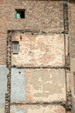 Old building wall with windows background Stock Images