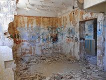 CHROMATIC DECADENCE. Old building, which in its deterioration, leaves us a chromatic decay Stock Photos