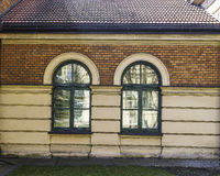 Old building with windows Royalty Free Stock Image