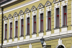Old building windows detail Eger Royalty Free Stock Images