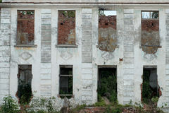 Old building without Windows and doors. Old dilapidated building with no Windows and doors on two floors royalty free stock photos