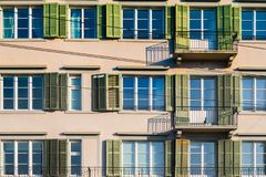 Old building windows Royalty Free Stock Images