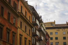 Old building windows. Roman building Stock Photos