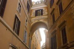 Old building windows. Roman building Stock Image