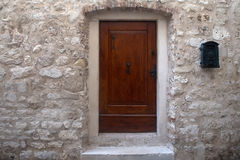 Old building with wooden door Royalty Free Stock Photography