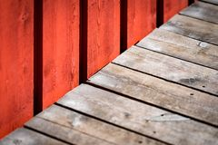Old building wooden wall in Norway Royalty Free Stock Photos