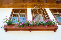Old building with wooden windows in Plovdiv Stock Photos