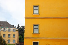 Old building yellow wall Eger Royalty Free Stock Image