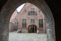 An old building in Zutphen in the Netherlands. This is a view on an old building in the city Zutphen in the Netherlands royalty free stock photos