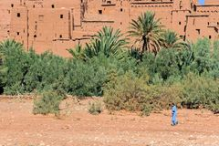 Old buildings at Ait-Ben-Haddou village Royalty Free Stock Photo
