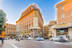 old buildings along the streets of Rome Stock Photography