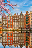 Old buildings in Amsterdam at spring Royalty Free Stock Photos