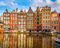 Old buildings in Amsterdam. Traditional old buildings in Amsterdam, the Netherlands Royalty Free Stock Photos