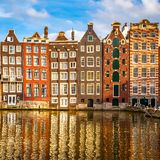 Old buildings in Amsterdam Royalty Free Stock Photos