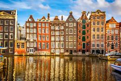 Old buildings in Amsterdam Stock Photography