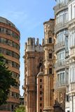 Old and Modern Buildings in Malaga Stock Photos