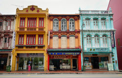 Old Buildings At Chinatown In Singapore Stock Photos