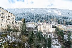 Old Buildings in Bad Gastein Stock Photography