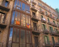 Old buildings Barcelona Royalty Free Stock Photo