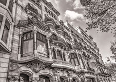 Old buildings at Barcelona Stock Photos