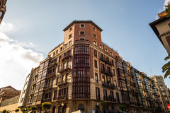 Old buildings in Bilbao Stock Photography