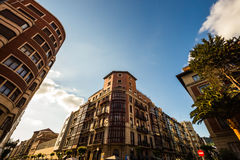 Old buildings in Bilbao Royalty Free Stock Image
