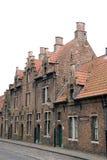 Old buildings in Bruges. Architectural details of old buildings on street, Bruges, West Flanders, Belgium Stock Images