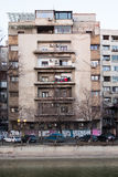 Old buildings in Bucharest stock image