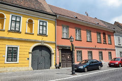 Old buildings of Buda Stock Photo