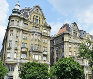 Old buildings of Budapest, Hungary Stock Photos
