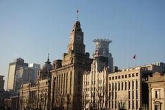Old buildings in the bund of Shanghai Stock Image