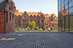 Old buildings in Bydgoszcz Stock Images