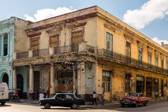 Old buildings and cars in Havana, Cuba stock image