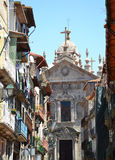 Old buildings and Cathedral in Porto Stock Photography