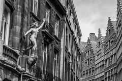 Old buildings in center of Antwerp, Belgium Royalty Free Stock Images