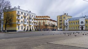 Old buildings in the central part of Smolensk, Russia. Stock Image